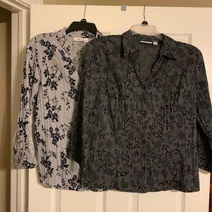 Bundle of 2 size large blouses